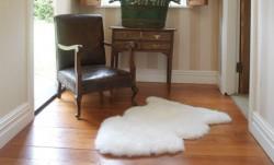 Long Wool Rug White