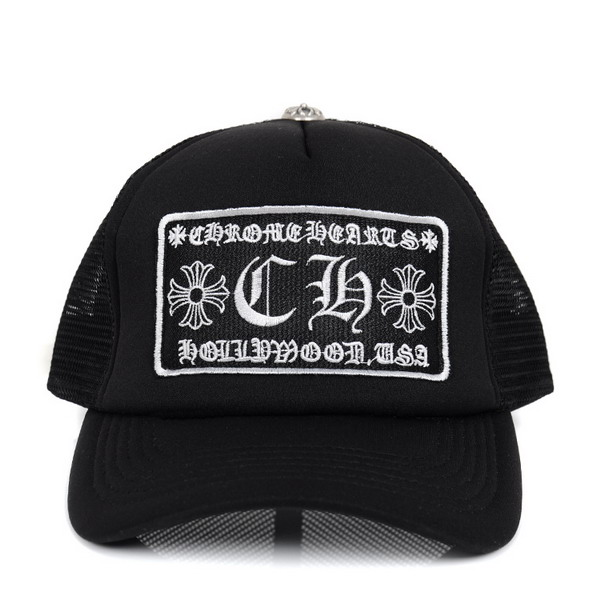Mens Cool Black Chrome Hearts CH Patch Logo Mesh Baseball Cap – $109.00 : Chrome Hearts On ...