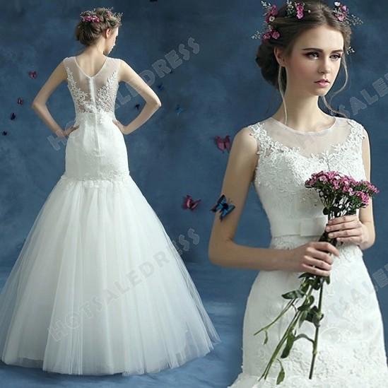2016 New Sweetheart Mermaid Trumpet Trailing Lace Wedding Dress – Wedding Dresses