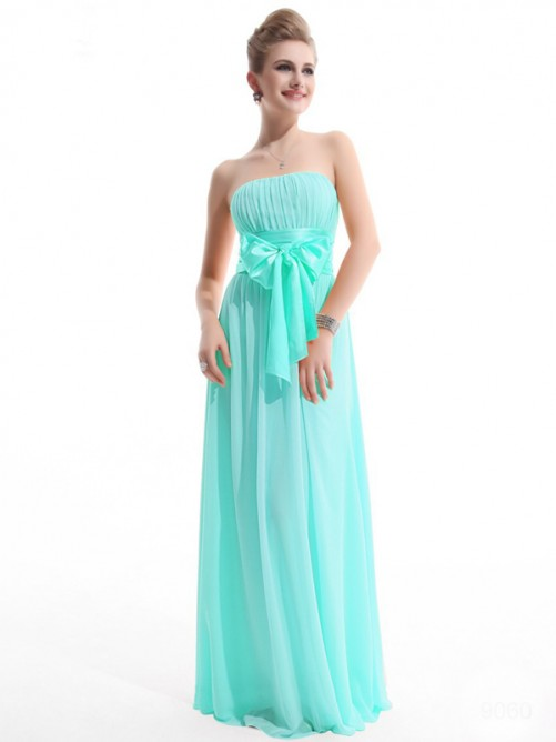 Princess Straps Floor-length Chiffon Dress POWDN14077BN219