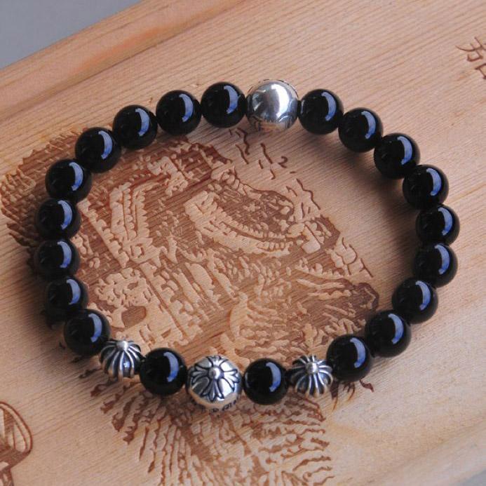 2016 Chrome Hearts Black 925 Silver Beads Bracelet On Sale Online [CH #ch2025] – $240.00 : ...