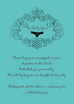 Sexy Panties Themed Bridal Shower Invitations HPB276 [HPB276]