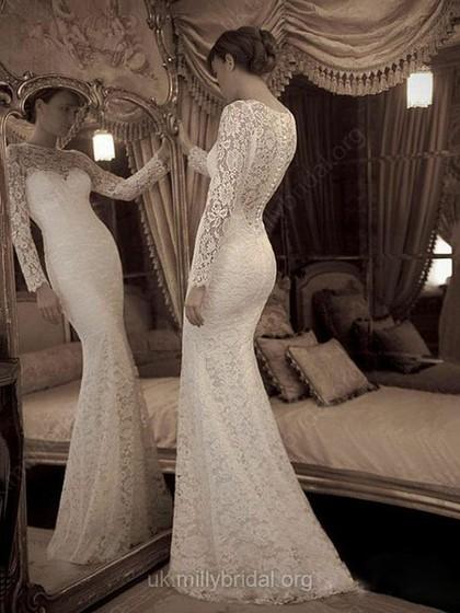 Stunning Trumpet/Mermaid Wedding Dresses UK – dressfashion.co.uk