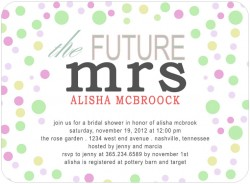 The Future Mrs Bridal Shower Invitation Card HPB128 [HPB128]