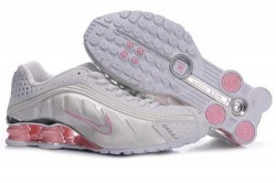 Women's Nike Shox R4 Shoes White/Light Pink/Brilliant Silver 83F2N2,Shox,Jordans For Sale, ...