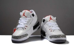Nike Air Jordan 3 Retro Men's Shoes Limited Edition White Black H2D81V,Cheap Jordans For M ...