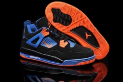 Nike Air Jordan 4 Shoes Kid's Grade Aaa Black Blue Orange 2CY07M,Cheap Jordans For Kids,Ni ...