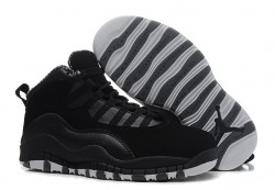 Wholesale Air Jordan 10 (X) Retro Black White-Stealth Sale Online