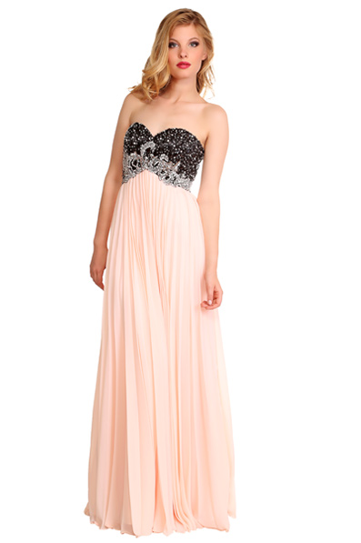 US$163.99 2016 Sweetheart Zipper Floor Length Sleeveless Crystals A-line Pink Chiffon Ruched