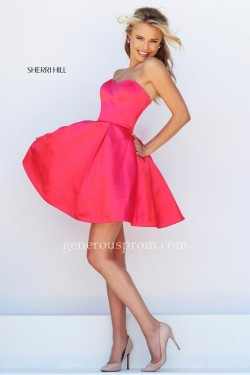 Cerise Short Sherri Hill 50228 Prom Dresses with Pockets – $150.00 : Prom Dresses | Genero ...