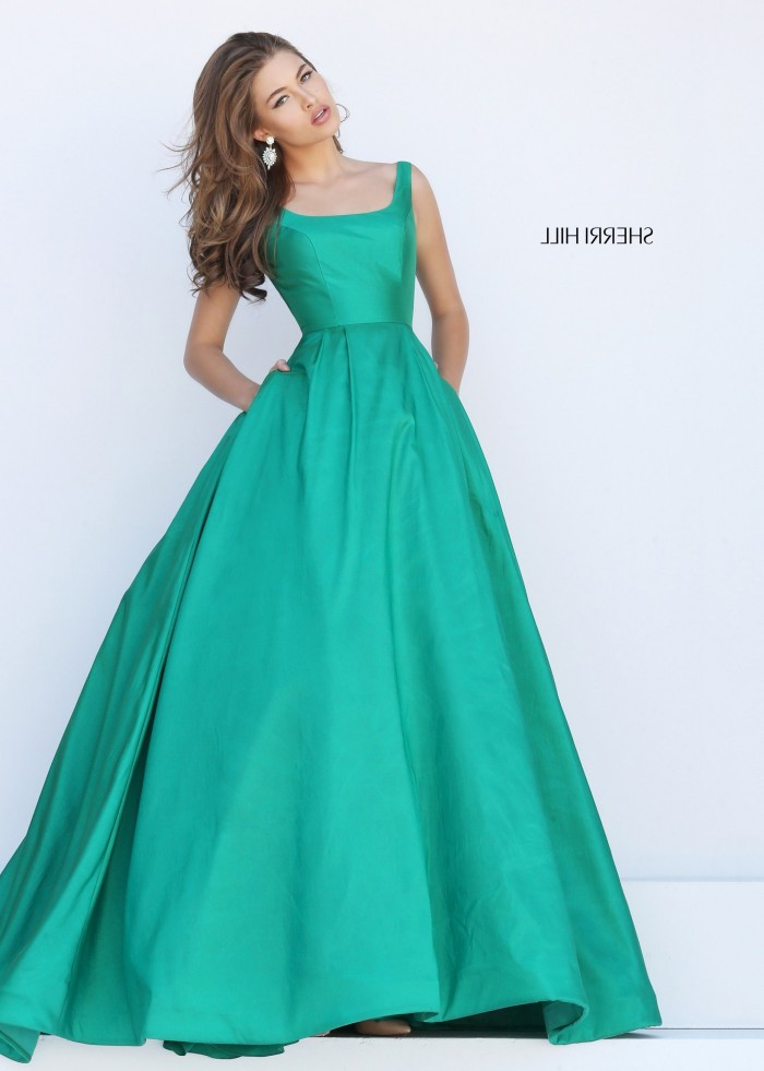 Cheap Sherri Hill 50404 Open Back Scoop Neck Emerald Ball Gown for Sale [sherri hill 50404 emera ...