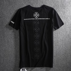 Chrome Hearts A Row Signature Crosses Back Printed Black T Shirt [Chrome Hearts T Shirt] – ...