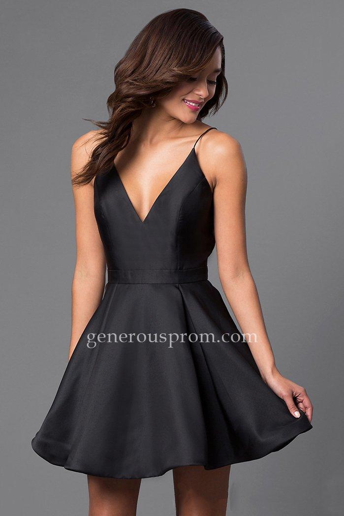 Spaghetti Straps Black Jovani JVN47315 Party Dress – $145.00 : Prom Dresses | Generous Dresses