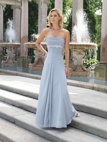 US$157.99 2015 Chiffon Ruched Sleeveless Strapless Floor Length