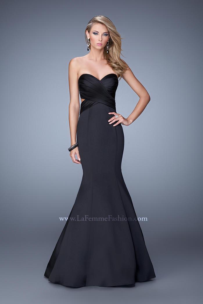 US$177.99 2015 Satin Black Open Back Floor Length Ruched Sweetheart Sleeveless Mermaid