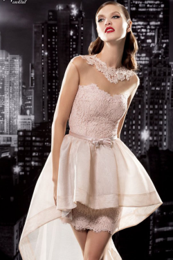 US$155.99 2016 Straps Pink Sash Appliques A-line Satin Lace Sleeveless High-low Ruched
