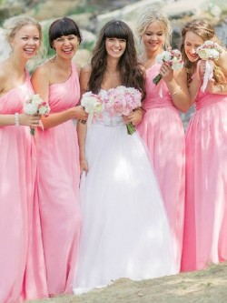 Asymmetric One Shoulder Bridesmaid Dresses UK | Dressfashion.co.uk