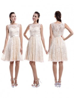 Champagne Coloured Bridesmaid Dresses UK | Dressfashion