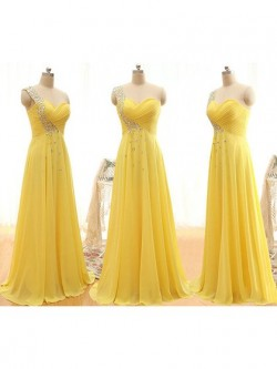 Cream Yellow and Lemon Bridesmaid Dresses UK at Dressfashion.co.uk