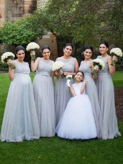 Silver Grey Bridesmaid Dresses UK on Dressfashion