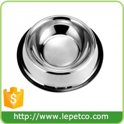 Factory wholesale Custom logo Non-Skid Rust Proof Stainless Steel Dog Bowls