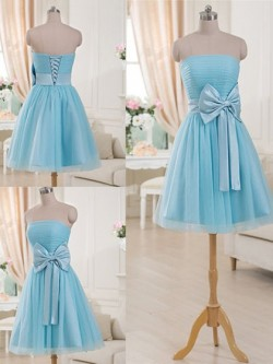 Strapless Bridesmaid Dresses UK via Dressfashion.co.uk