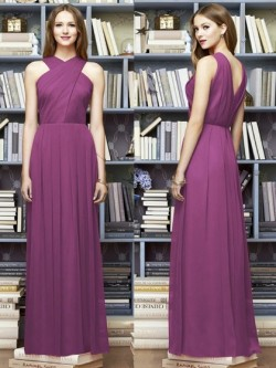 Floor-length A-line Chiffon with Ruffles Different Bridesmaid Dress in UK