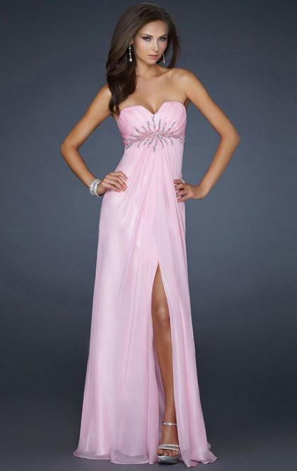 Online Long Pink Tailor Made Evening Prom Dress (LFNAF0009) cheap online-MarieProm UK