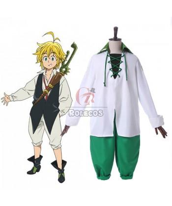 Buy The Seven Deadly Sins Nanatsu no Taizai Meliodas Anime Cosplay Costumes FOR SALE – Rol ...