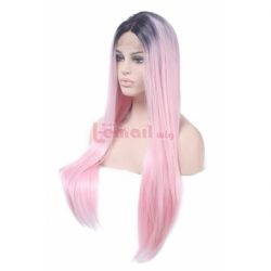 Long Straight Pink Synthetic Lace Front Wigs for Sale – L-email Cosplay Wig