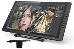 XP-Pen Tavoletta Grafica Monitor IPS HD Artist22E con 16 Tasti 2 Penne Ricaricabili 2048 Levilli