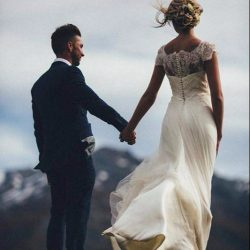 Summer Beach Wedding Dresses A Line Jewel Cap Sleeve Floor Length Bridal Gowns With Lace Tulle B ...