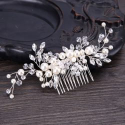 Elegant hair comb bridal headwear evening party tiara for ladies