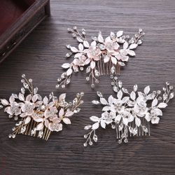 Hot sale hair accessories bridal headwear evening party flower tiara for ladies
