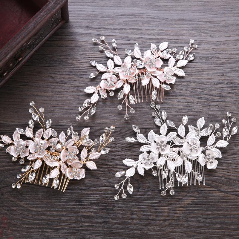 Hot sale hair accessories bridal headwear evening party flower tiara for ladies