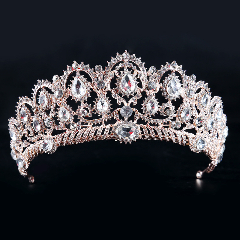 Hot sale new design bridal big crown tiara wedding accessories