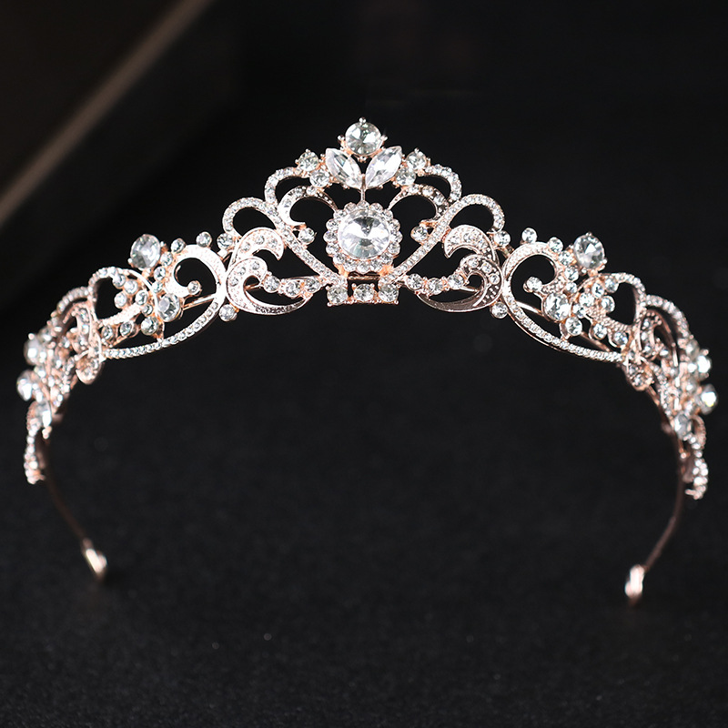 Hot sale new design bridal rhinestone crown tiara wedding hair decoration