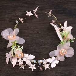 2018 latest style cheap handmade bridesmaid hairbands flower hair hoop