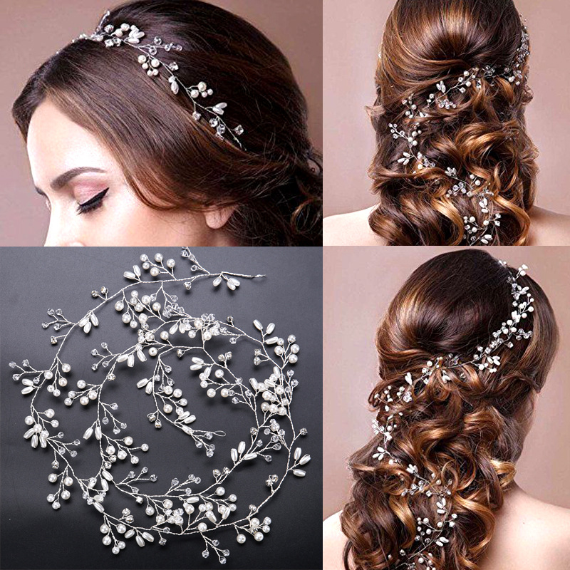 Wholesale pearl headwear wedding accessories for bridal