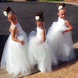 Cute Flower Girls Dresses For Weddings Custom Make Full length Ball Gown Little Girl Formal Wear ...