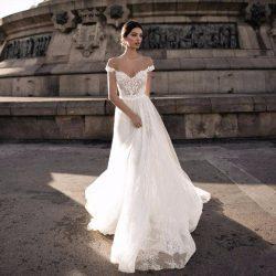 Gali karten Beach Wedding Dress Lace Backless Off Shoulder Applique Bohemian Bridal Gowns A Line ...