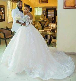 Modest Floral Plus Size Lace Wedding Dresses Half Sleeve Arabia Ball African Country Vestido de  ...