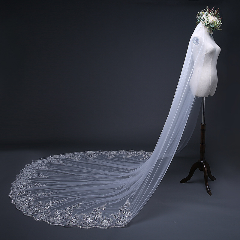 2018 bridal veils 3 meters long 1 Layer White Wedding Veil