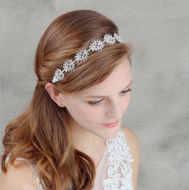 Korean style bride handwork head band hair decoration hairbands wedding hair hoop