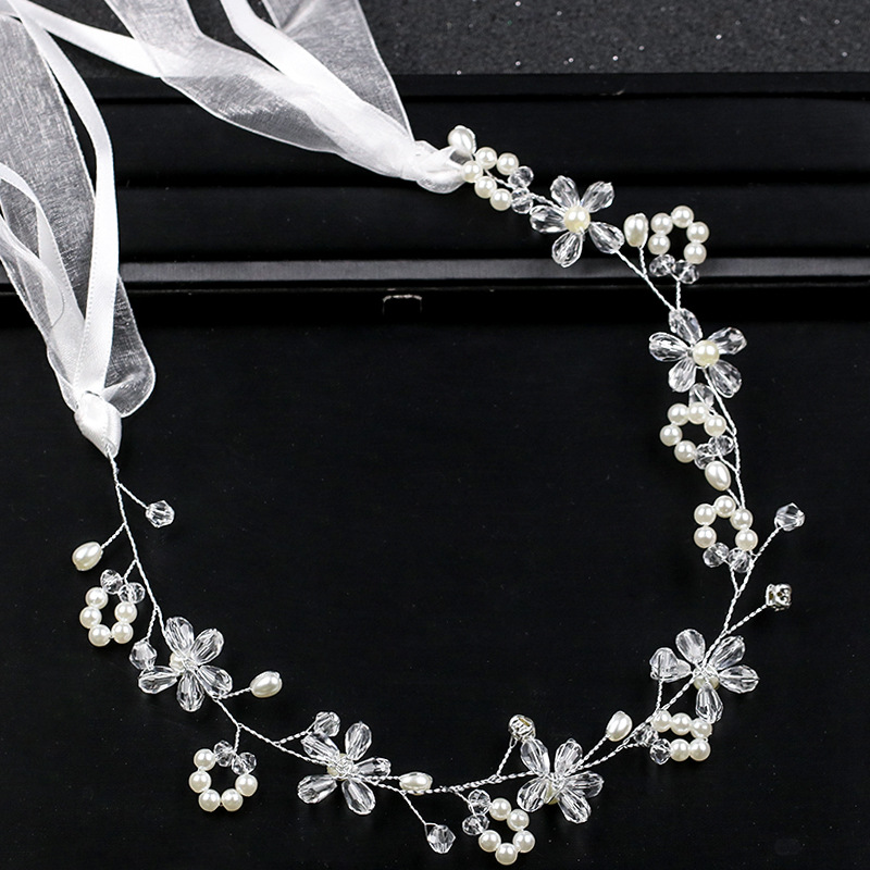 2018 latest handmade high quality hairbands wedding party pearl hair hoop