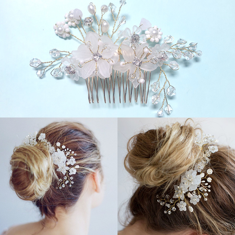 Wholesale White pearl hairpins wedding hair accessories 2018