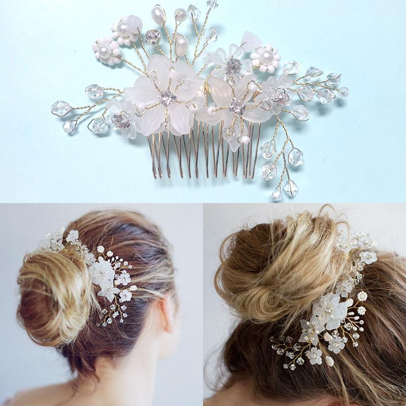 Wholesale White pearl hairpins wedding hair accessories 2018