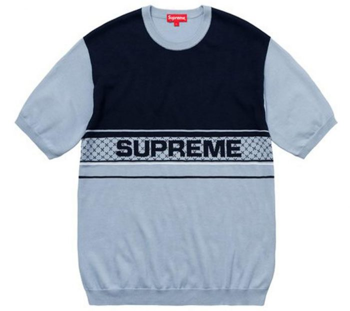 Supreme Chest Logo S/S Knit Top- Light Blue – Streetwear Official