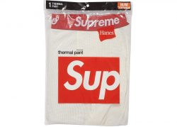 Supreme Hanes Thermal Pant (1 Pack)- Natural – Streetwear Official