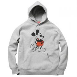 Supreme Mickey Mouse Hoodie- Grey – Streetwear Official